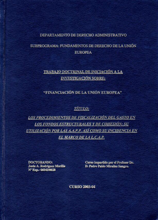 Procedimientos de fiscalización del gasto - BIBLIOGRAFÍA