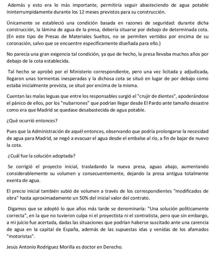 Artículo el pais Madrid a punto de quedar desabastecida por el agua potable 2 - ♦Madrid, a punto de quedarse desabastecida de agua potable
