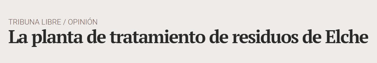 Planta Elche Alicante plaza tribuna - ♦La planta de tratamiento de residuos de Elche