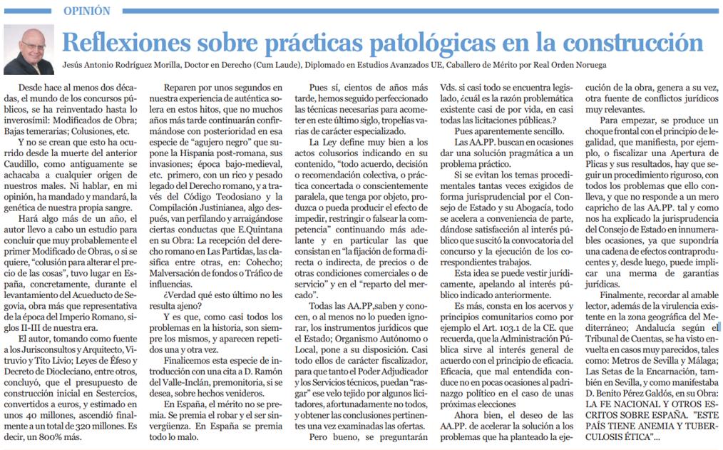 Artículo Reflexiones sobre prácticas patológicas en la construcción 7 y medio Cope - ♦Reflexiones sobre prácticas patológicas en la construcción