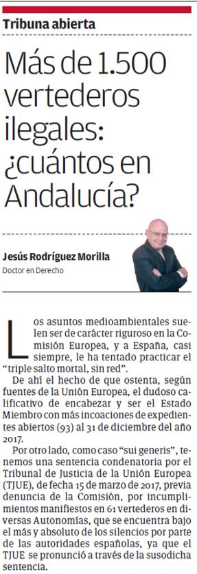 Artículo Más de 1500 vertederos ilegales cuántos en Andalucía Viva Sevilla - ♦Más de 1.500 vertederos ilegales: ¿cuántos en Andalucía?