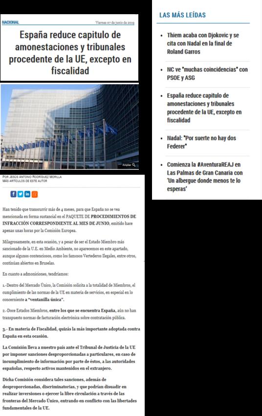 España reduce capítulo de amonestaciones lo más leído 1 - ♦España reduce el capítulo de amonestaciones y tribunales, procedentes de la UE, excepto en fiscalidad