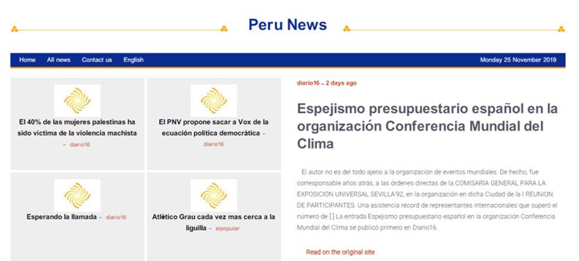 Espejismo presupuestario español en la organización Conferencia Mundial del Clima Perú - ♦Espejismo presupuestario español en la organización Conferencia Mundial del Clima