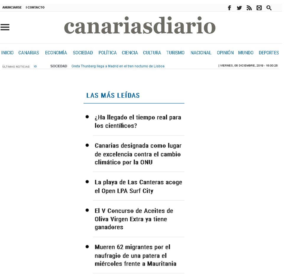 Ha llegado el tiempo real para los científicos las más leídas canarias diario - ♦Teritorio ONU en Madrid o la sensación de Nueva York