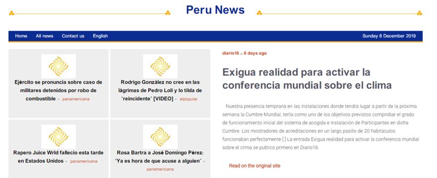 exigua realidad para activar la conferencia mundial sobre el clima diario Perú - ♦Exigua realidad para activar la conferencia mundial sobre el clima