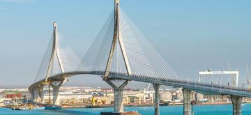 Sobrecostes del Puente sobre la Bahía de Cádiz