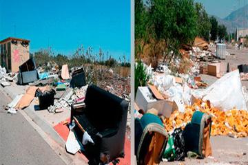 Nuevos vertederos indomables e ilegales en la Marjalería, cuadra natora y ciudad del transporte