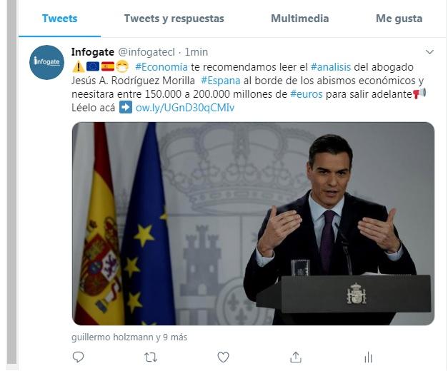 twit Infogate - España casi arrojada a los abismos económicos